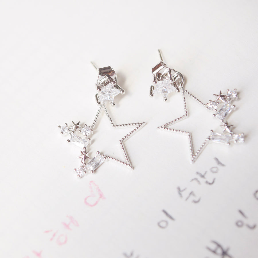 Silver Dainty Delicate Korea Made Earrings Clip On Earrings
