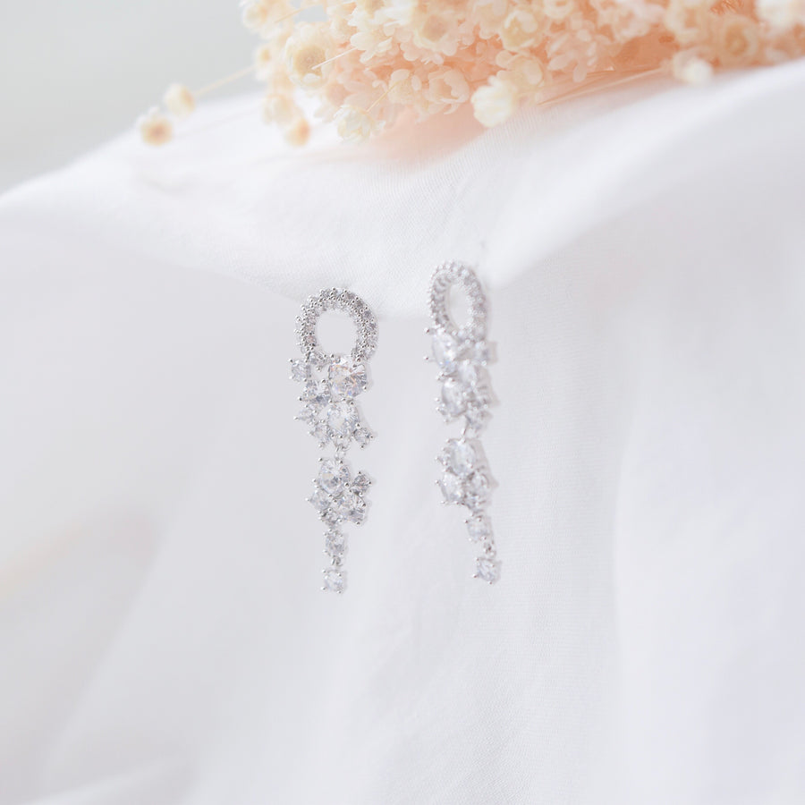 Hotel del Luna IU Made in Korea Earrings Korean Anting Cubic Zirconia Bride Bridal Dinner 925 Sterling Silver Accessory Fashion Fancy Stylish Costume Jewellery Online Malaysia Shopping Trendy Accessories Daily Wear Jewelry Dainty Minimalist Delicate Clip On Earrings No Piercing Special Perfect Gift From Heart For Your Loved One Hotel del Luna