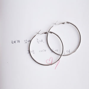 Silver 50mm Hoop Earrings