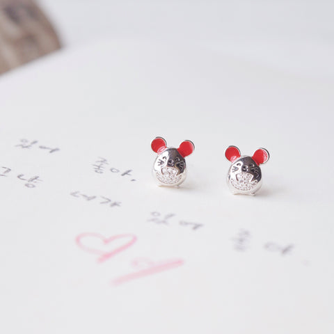 Silver Made in Korea Earrings Korean Anting Cubic Zirconia Bride Bridal Dinner 925 Sterling Silver Accessory Fashion Fancy Stylish Costume Jewellery Online Malaysia Shopping Trendy Accessories Daily Wear Jewelry Dainty Minimalist Delicate Clip On Earrings No Piercing Special Perfect Gift From Heart For Your Loved One Happy Chinese New Year Gong Xi Fa Cai Year Of Rat Mouse Mice