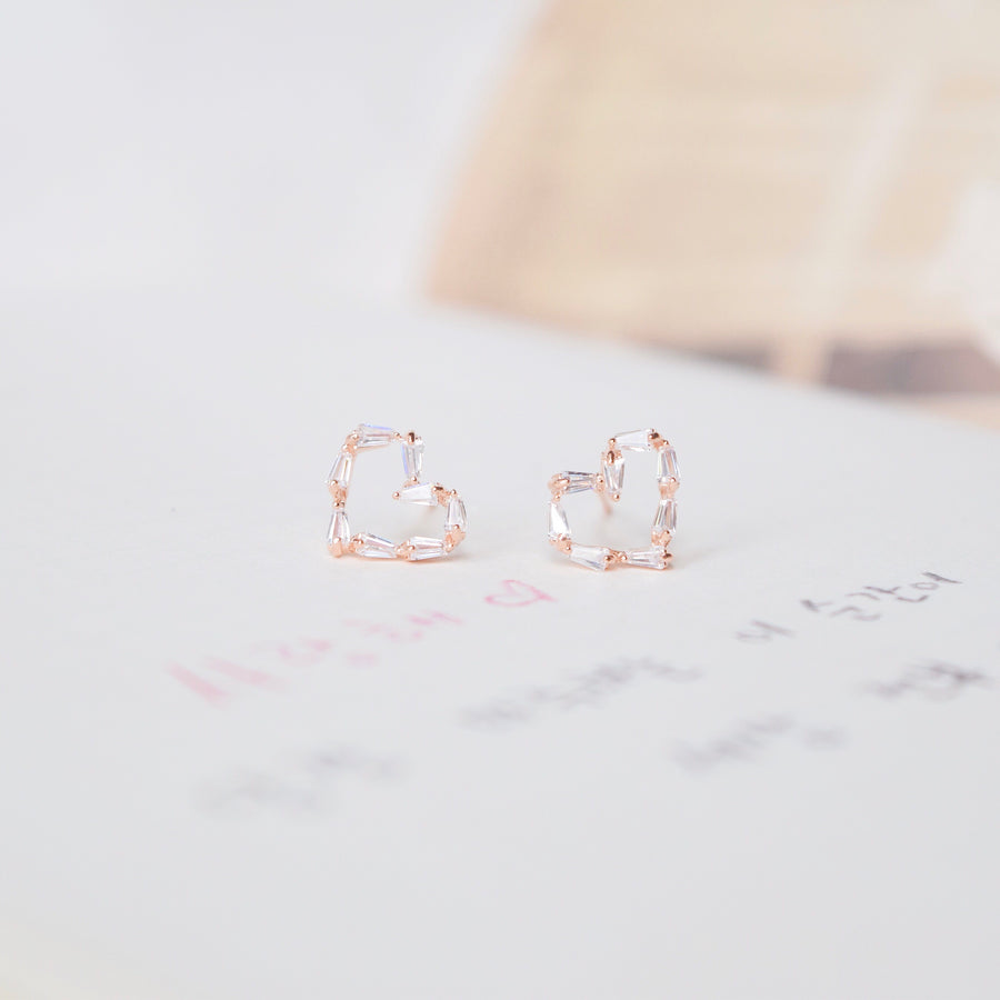 Rose Gold Love n Co Earrings