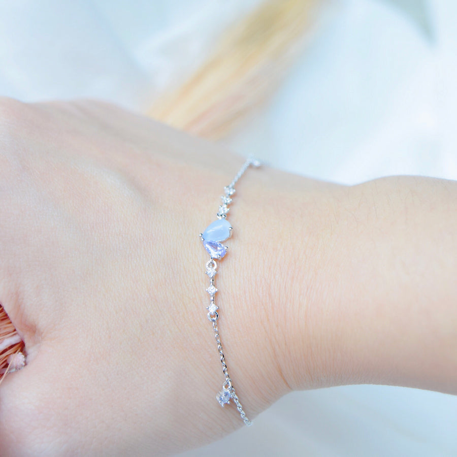 Silver Made in Korea Bracelet Korean Gelang Tangan Cubic Zirconia Bride Bridal Dinner Rhodium Plated Accessory Fashion Fancy Stylish Jewellery Online Malaysia Shopping Trendy Accessories Daily Wear Jewelry Dainty Minimalist Delicate Special Perfect Gift From Heart For Your Loved One