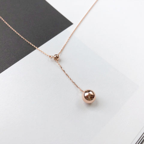 Rose Gold Made in Korea Necklace Korean Rantai Leher Cubic Zirconia Bride Bridal Dinner 925 Strerling Silver Accessory Fashion Fancy Stylish Jewellery Online Malaysia Shopping Trendy Accessories Daily Wear Jewelry Dainty Minimalist Delicate Special Perfect Gift From Heart For Your Loved One