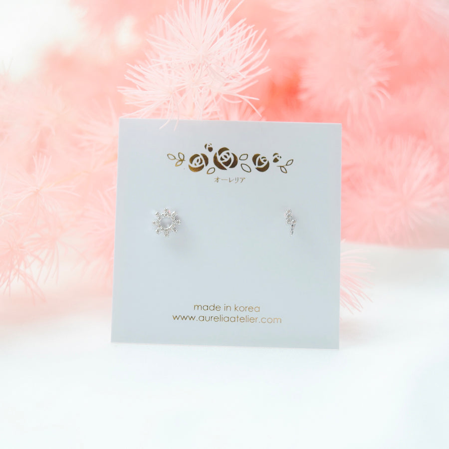 Silver Made in Korea Earrings Korean Anting Cubic Zirconia Bride Bridal Dinner 925 Sterling Silver Accessory Fashion Fancy Stylish Costume Jewellery Online Malaysia Shopping Trendy Accessories Daily Wear Jewelry Dainty Minimalist Delicate Petite Stud Earrings Clip On Earrings No Piercing Special Perfect Gift From Heart For Your Loved One