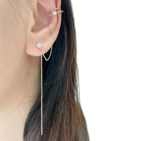 Rose Gold Made in Korea Earrings Korean Anting Cubic Zirconia Jewellery Malaysia Instagram 925 Sterling Silver hypoallergenic Instagram gift shops Jewellery Online Malaysia Shopping No Piercing Perfect Gift special gift Loved One Online jewellery Malaysia Gift for her Rose Gold Korea Made Earrings Korean Jewellery Jewelry Local Brand in Malaysia Cubic Zirconia Dainty Delicate Minimalist Jewellery Jewelry Bride Clip On Earrings Silver Gift Set present gift for her gift ideas earcuff ear cuff non piercing