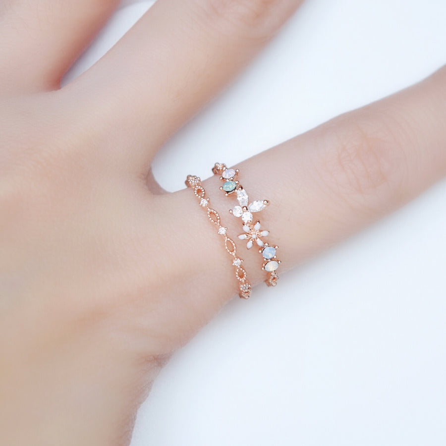 Rose Gold Ring Korea Made Rings Cubic Zirconia Stone 925 Silver Daily Wear Cincin Adjustable Gift For Her Surprise Jewellery Jewelry Malaysia Accessory