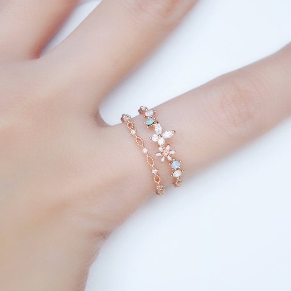 Rose Gold Encyst Ring