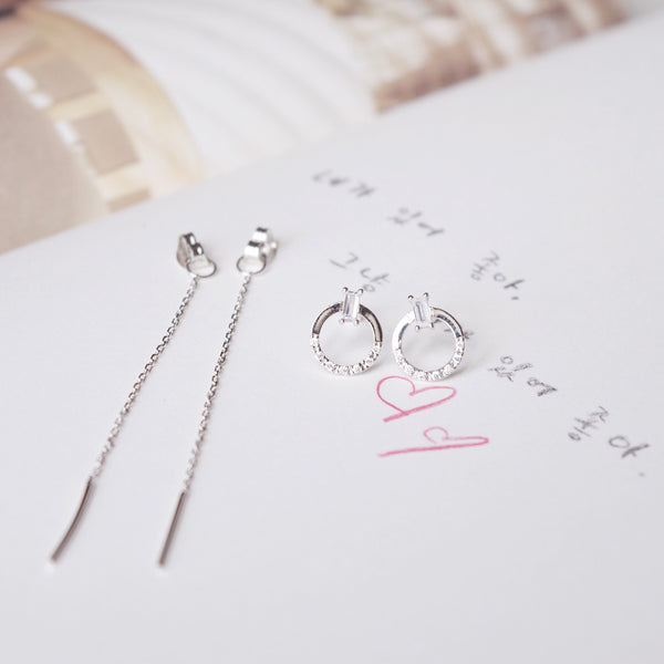 Silver Gloria Earrings