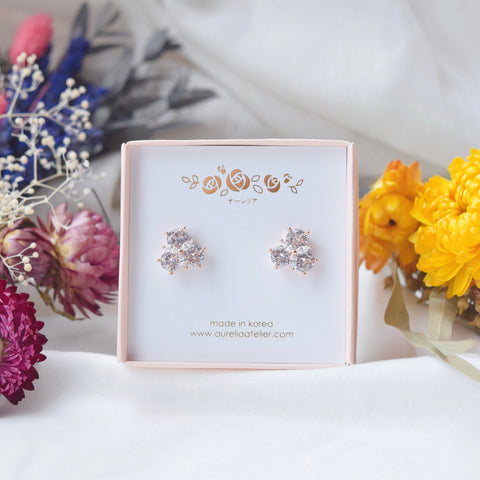 Made in Korea Earrings Korean Anting Cubic Zirconia Bride Bridal Dinner 925 Sterling Silver Accessory Fashion Fancy Stylish Costume Jewellery Online Malaysia Shopping Trendy Accessories Daily Wear Jewelry Dainty Minimalist Delicate Clip On Earrings No Piercing Special Perfect Gift From Heart For Your Loved One Happy Mother's Day