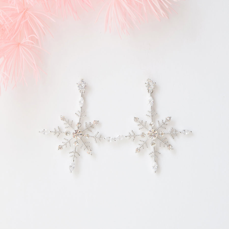Silver First Snowflake Earrings
