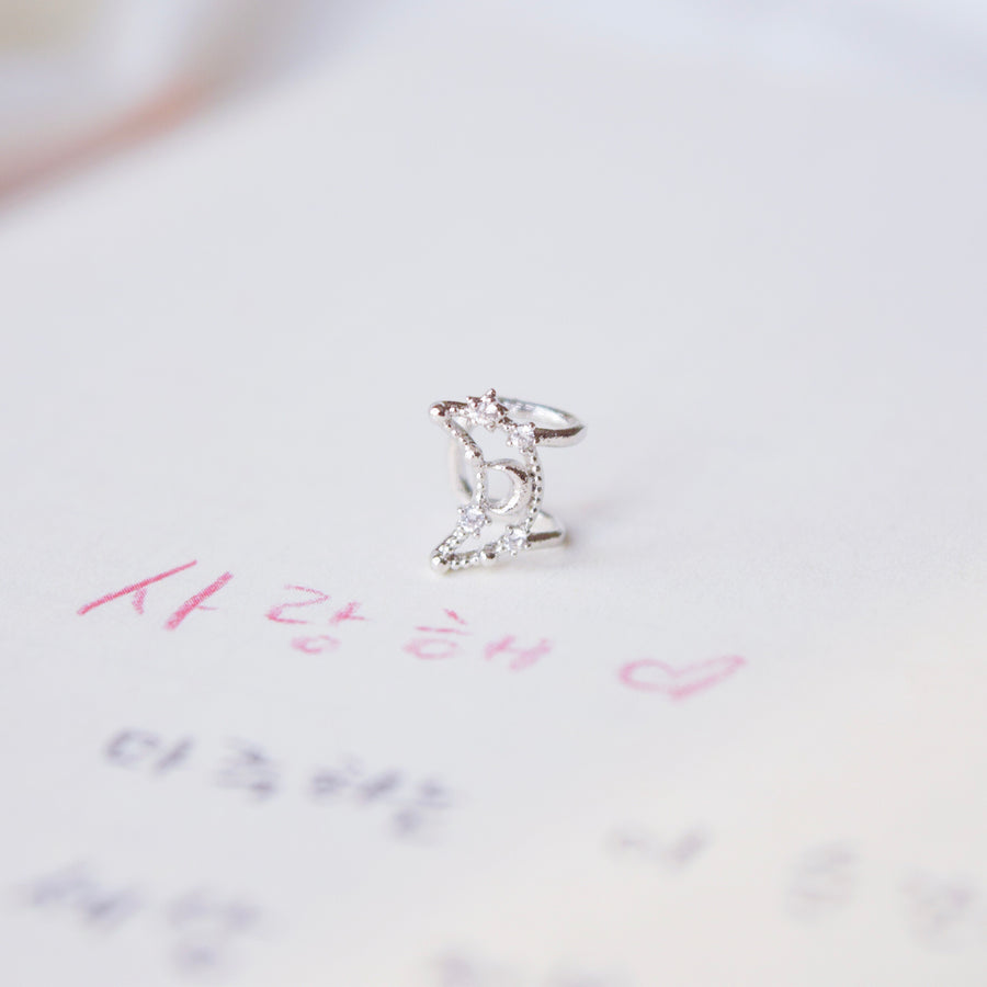 Jewellery Jewelry Rose Gold Korea Made Earrings Local Brand in Malaysia Cubic Zirconia Korean Earrings Ear Cuff Earcuff Earrings Dainty Minimalist Anting Gift for her No piercing Earrings Silver