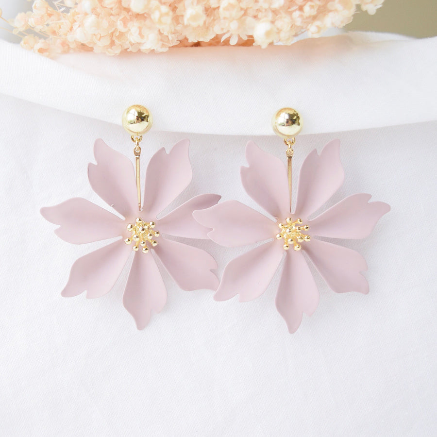 Dusty Rose Magnolia Earrings