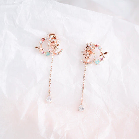 Rose Gold Wisteria Earrings