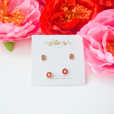 prosperity auspicious good luck Rose Gold Made in Korea Earrings Korean Anting Cubic Zirconia Bride Bridal Dinner 925 Sterling Silver Accessory Fashion Fancy Stylish Costume Jewellery Online Malaysia Shopping Trendy Accessories Daily Wear Jewelry Dainty Minimalist Delicate Clip On Earrings No Piercing Special Perfect Gift From Heart For Your Loved One Happy Chinese New Year Gong Xi Fa Cai Year Of Ox Cow Moo Moo Chinese Lunar 牛年大吉 blessing prosperity