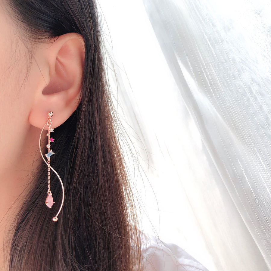 Rose Gold Missin You Earrings