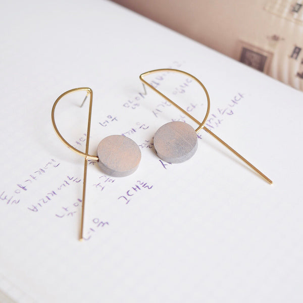 Wood Ritsu Earrings