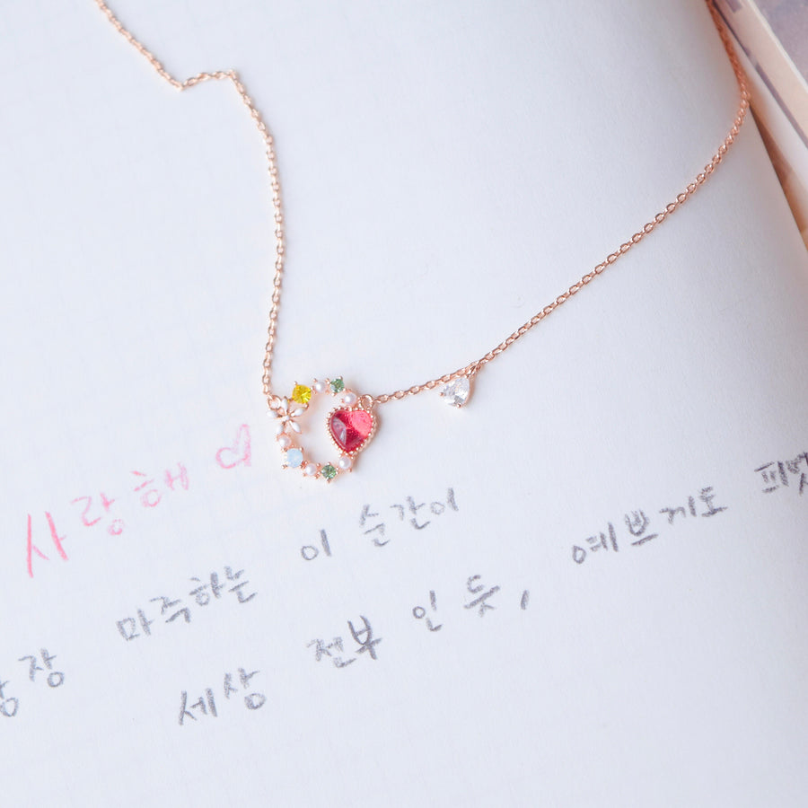 Rose Gold Made in Korea Necklace Korean Rantai Leher Cubic Zirconia Bride Bridal Dinner Rhodium Plated Accessory Fashion Fancy Stylish Jewellery Online Malaysia Shopping Trendy Accessories Daily Wear Jewelry Dainty Minimalist Delicate Special Perfect Gift From Heart For Your Loved One