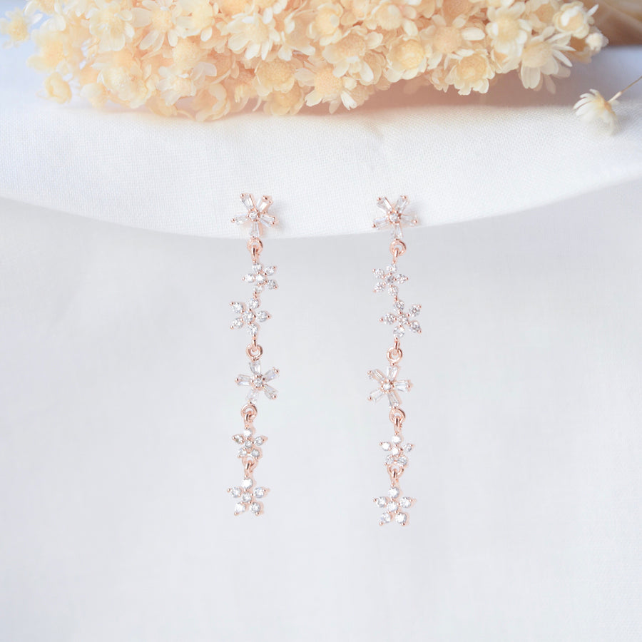 Made in Korea Earrings Korean Anting Cubic Zirconia Bride Bridal Dinner 925 Sterling Silver Accessory Fashion Fancy Stylish Costume Jewellery Online Malaysia Shopping Trendy Accessories Daily Wear Jewelry Dainty Minimalist Delicate Clip On Earrings No Piercing Special Perfect Gift From Heart For Your Loved One Flower 花
