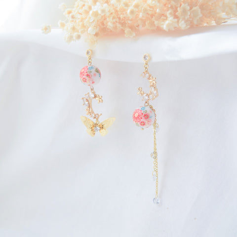 Made in Japan Earrings Japanese Style Anting Tensha Beads Cubic Zirconia Bride Bridal Dinner 925 Sterling Silver Accessory Fashion Fancy Stylish Costume Jewellery Online Malaysia Shopping Trendy Accessories Daily Wear Jewelry Dainty Minimalist Delicate Clip On Earrings No Piercing Special Perfect Gift From Heart For Your Loved One Handmade In Malaysia 転写ビーズイヤリングピース手作りハンドメードアクセサリー