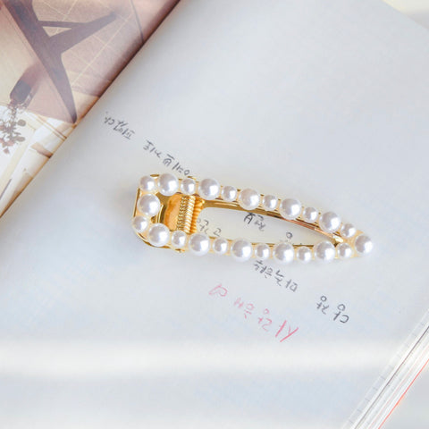 Made In Korea Hair Barrette Jewelry Daily Wear Pearl Hair Clip Fashion For Girls Hair Accessories Hair Pin Local Brand In Malaysia Hairclip