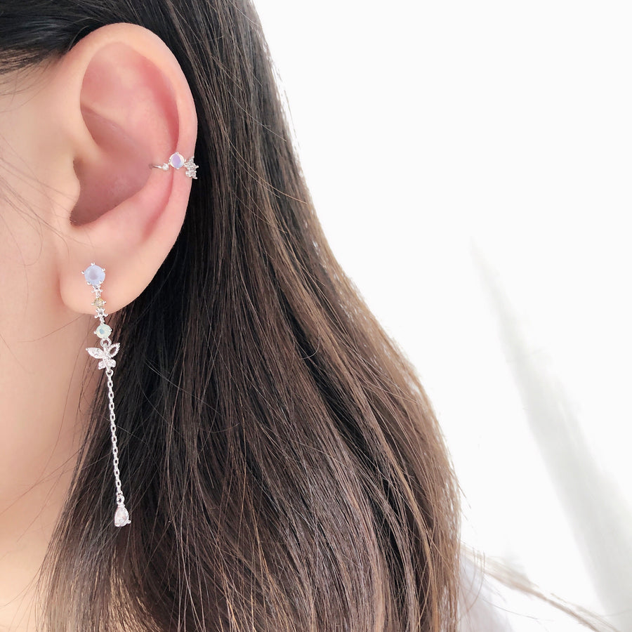 Korea Made Earrings Korean Jewellery Jewelry Local Brand in Malaysia Cubic Zirconia Dainty Delicate Minimalist Jewellery Jewelry Bridal Bride Clip On Earrings 925 Sterling Silver