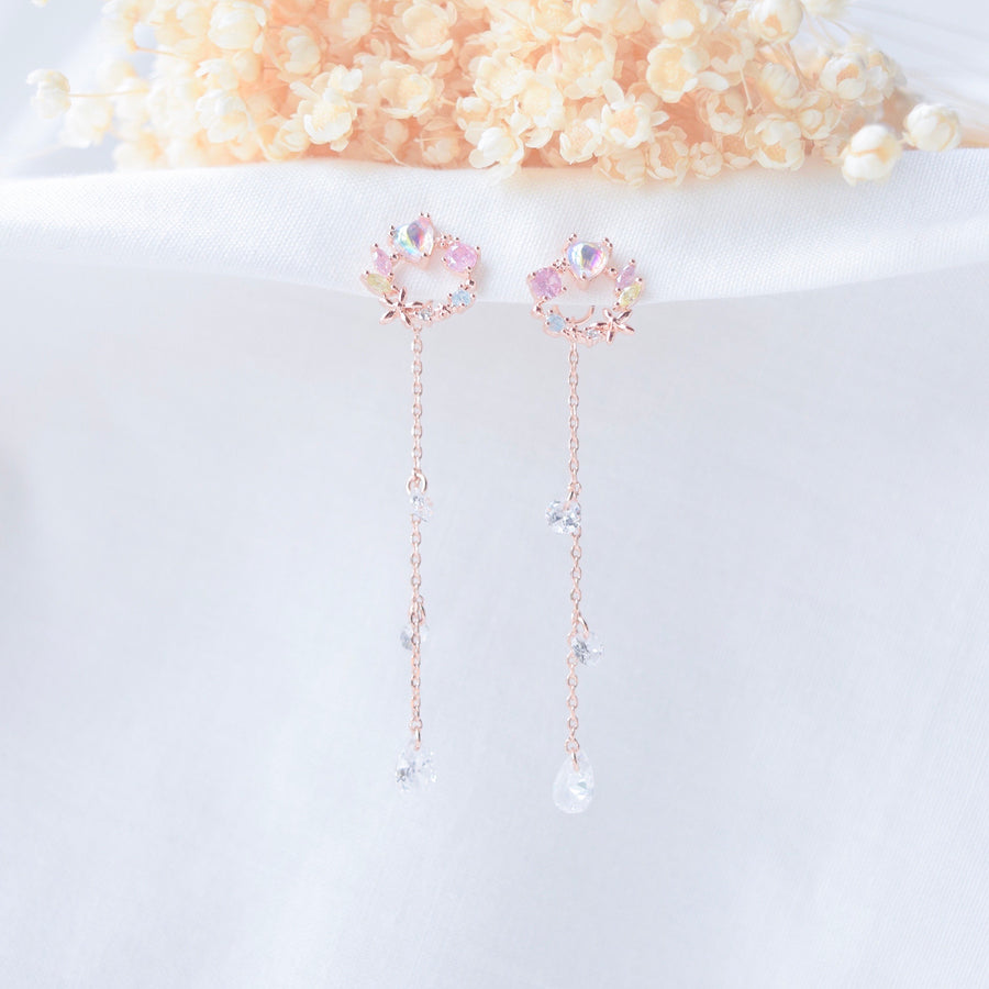 Rose Gold Candytuft Earrings