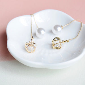 Gold Tiara Floating Earrings