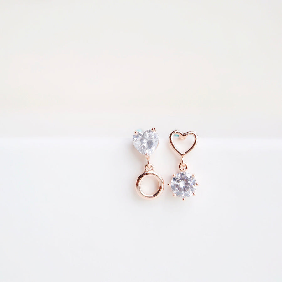 Rose Gold Unconditional Love Earrings