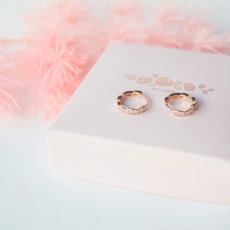 Rose Gold Made in Korea Earrings Korean Anting Cubic Zirconia Jewellery Malaysia Instagram 925 Sterling Silver hypoallergenic Instagram gift shops Jewellery Online Malaysia Shopping No Piercing Perfect Gift special gift Loved One Online jewellery Malaysia Gift for her Rose Gold Korea Made Earrings Korean Jewellery Jewelry Cubic Zirconia Dainty Delicate Minimalist Jewellery Jewelry Bride Clip On Earrings Silver Gift Set present gift for her gift ideas huggie hoop huggies hoop daily wear earrings