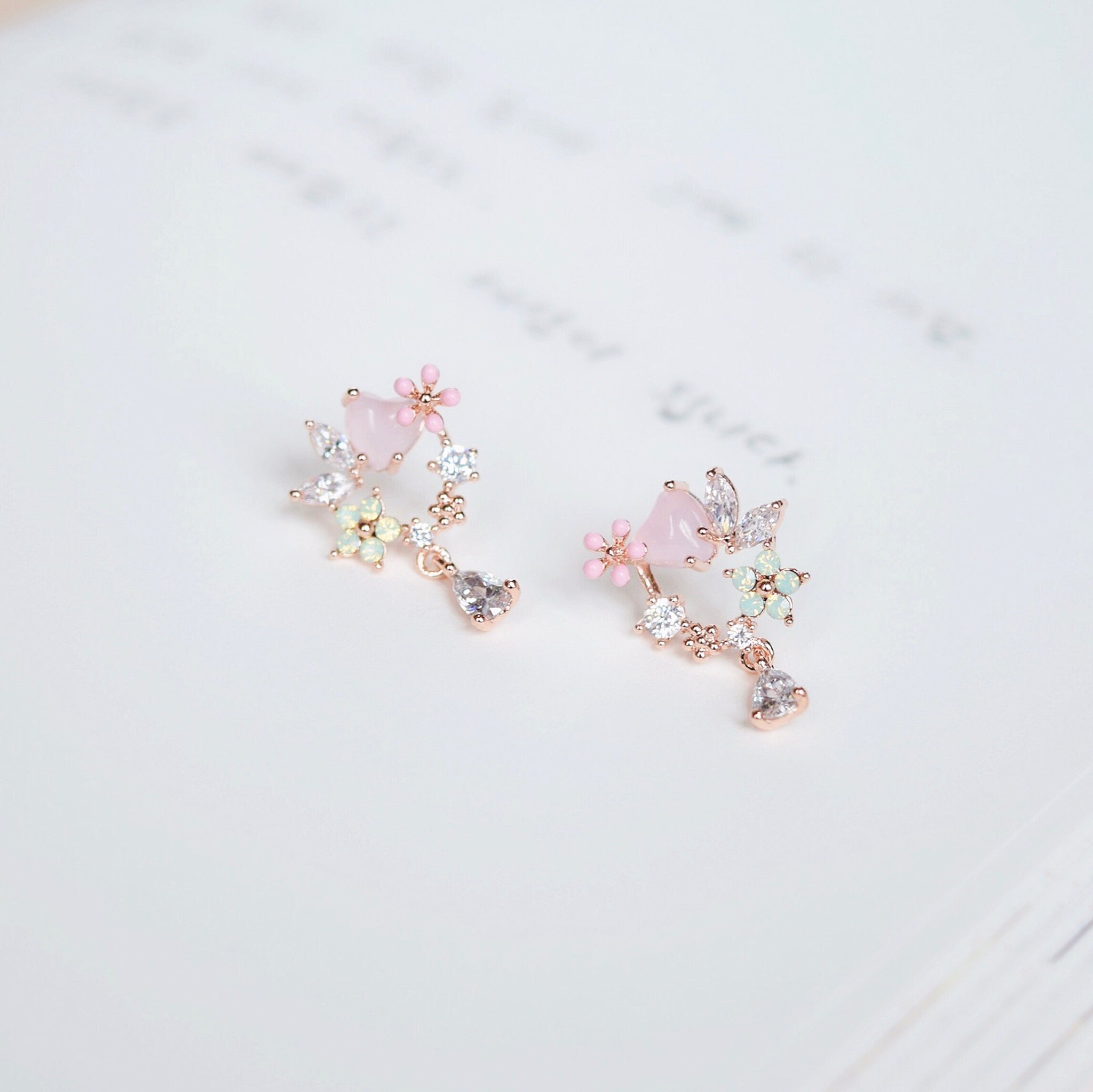 Opalescent Cyclamen Earrings