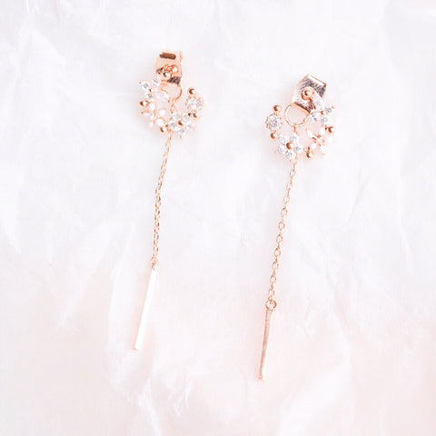 Rose Gold Woolly Earrings
