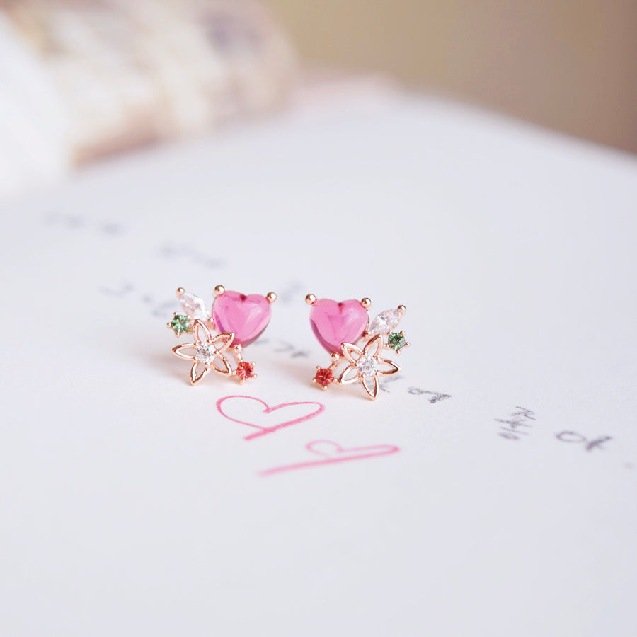 Rose Gold Korea Made Earrings Local Brand in Malaysia Cubic Zirconia Clip On Earrings 925 Sterling Silver