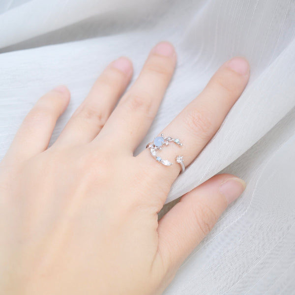 Silver Ring Korea Made Earrings Cubic Zirconia Stone 925 Silver Daily Wear Cincin Adjustable Special Gift Your Dearest Ones