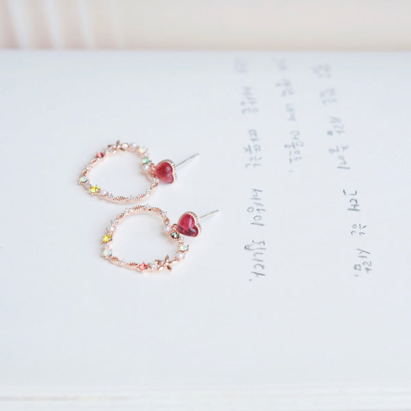 Ruby Love Encyst Earrings