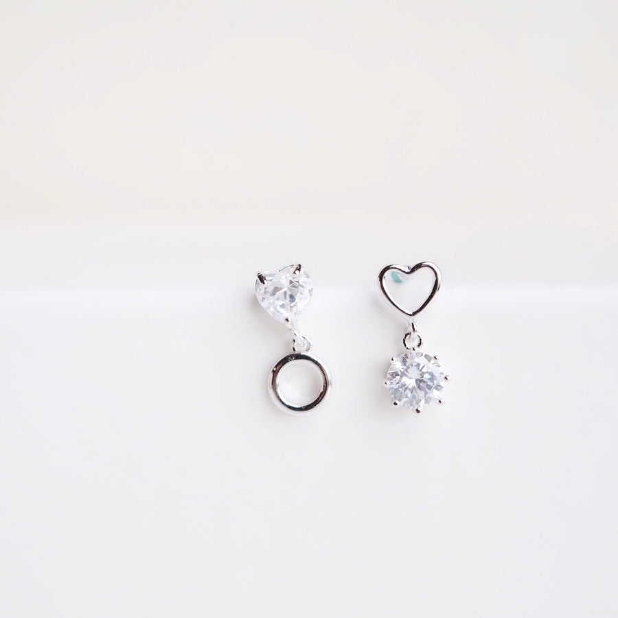 Silver Unconditional Love Earrings