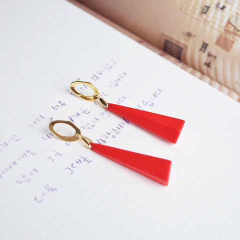 Red Mio Earrings