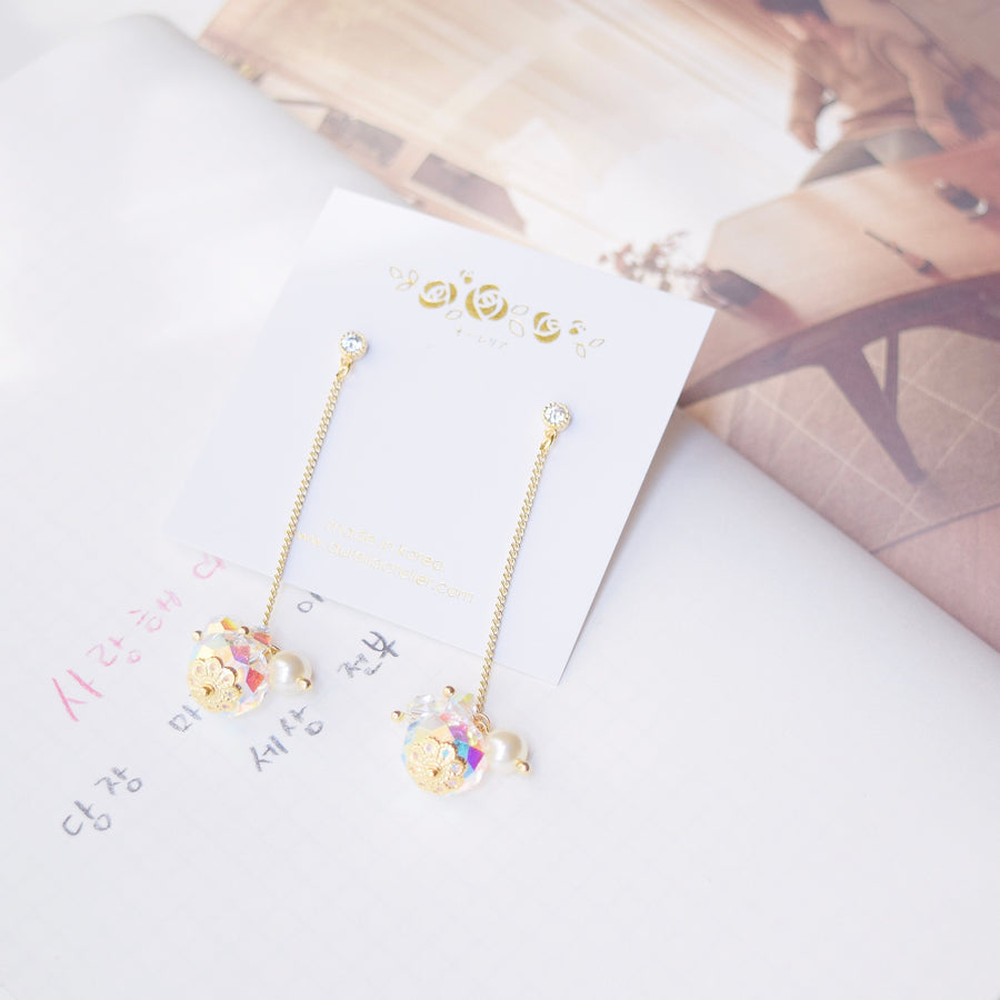 Made in Korea Earrings Korean Handmade in Malaysia Anting Swarovski Bride Bridal Dinner 925 Sterling Silver Accessory Gold Ruby Pearl Costume Jewellery Jewelry Dainty Minimalist Delicate Clip On Earrings No Piercing