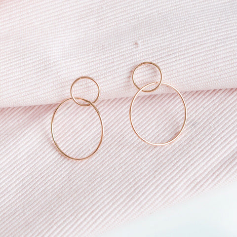 Rose Gold Infinity Drop Earrings