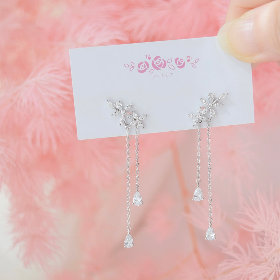 Silver Fall in You Earrings
