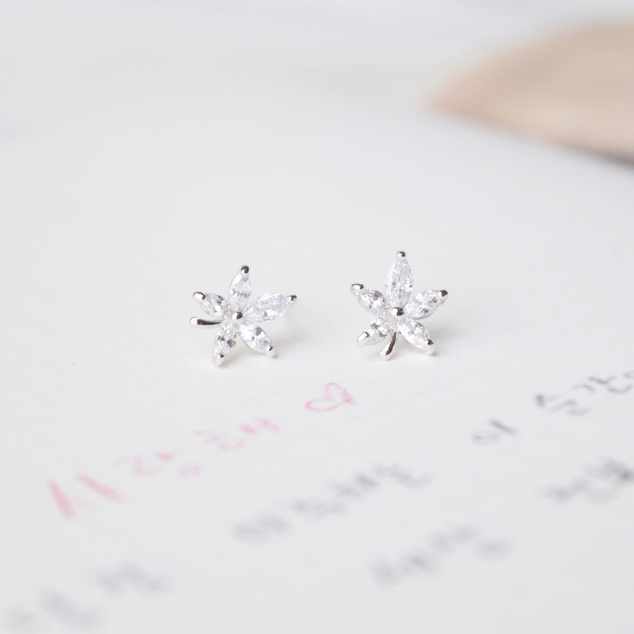 Silver Made in Korea Earrings Korean Anting Cubic Zirconia Bride Bridal Dinner Titanium Accessory Fashion Fancy Stylish Costume Jewellery Online Malaysia Shopping Trendy Accessories Daily Wear Jewelry Dainty Minimalist Delicate Petite Stud Earrings Clip On Earrings No Piercing Special Perfect Gift From Heart For Your Loved One