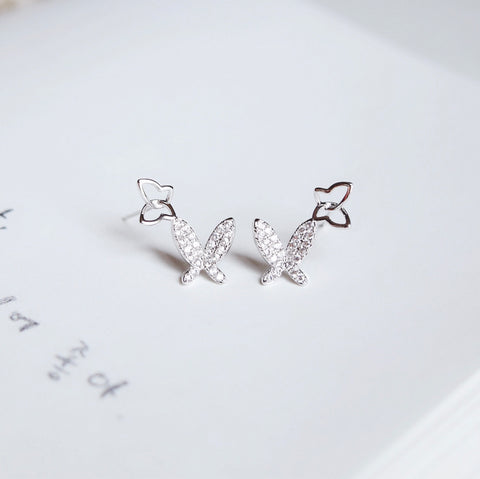 Silver Wishes on Wings Earrings