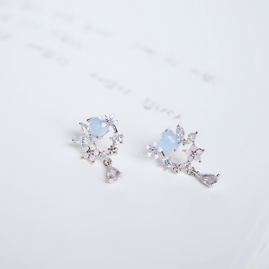 Silver Korea Made Earrings 925 Sterling Silver Minimalist Dainty Clip On Earrings Local Brand in Malaysia Cubic Zirconia