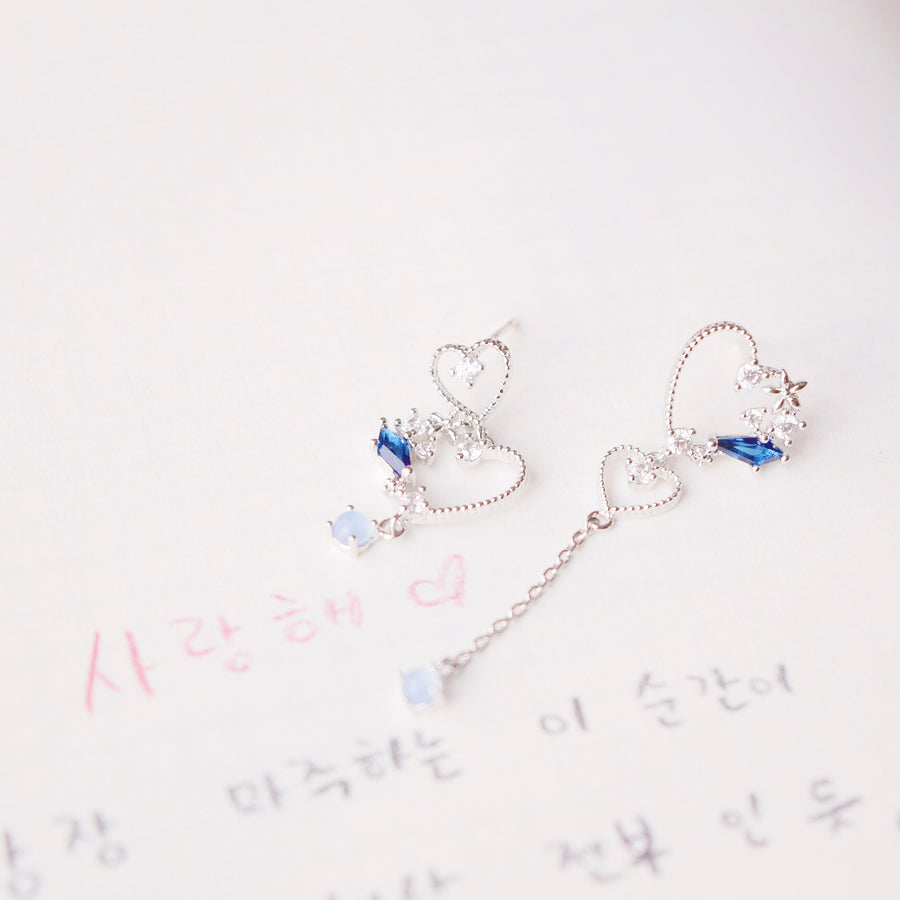 Korea Made Earrings Local Brand in Malaysia Cubic Zirconia Dainty Delicate Minimalist Jewellery Jewelry Bridal Bride Clip On Earrings 925 Sterling Silver