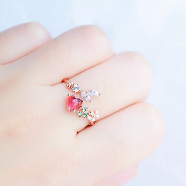 Ruby Bellflower Ring