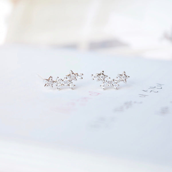 Silver Sirius Earrings