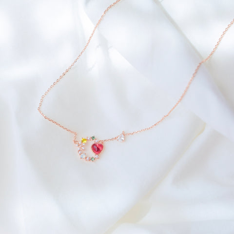 Ruby Anemone Necklace