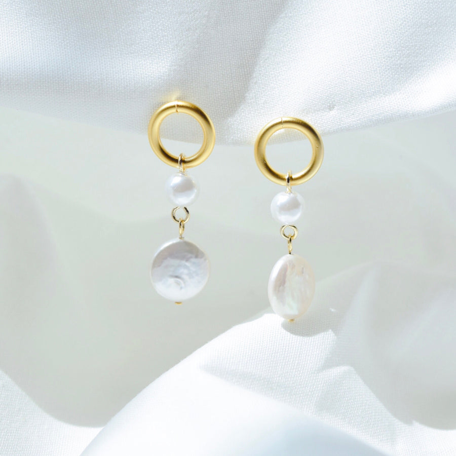 Gold Pearl Accessory Rose Gold Korea Made Earrings Korean Jewellery Jewelry Local Brand in Malaysia Cubic Zirconia Dainty Delicate Minimalist Jewellery Jewelry Bridal Bride Clip On Earrings 925 Sterling Silver Anting Dinner