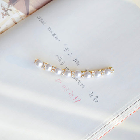 Made In Korea Hair Barrette Jewelry Daily Wear Pearl Hair Clip Pretty Barrette Shops In The Malaysia Hair Pin Hairclip