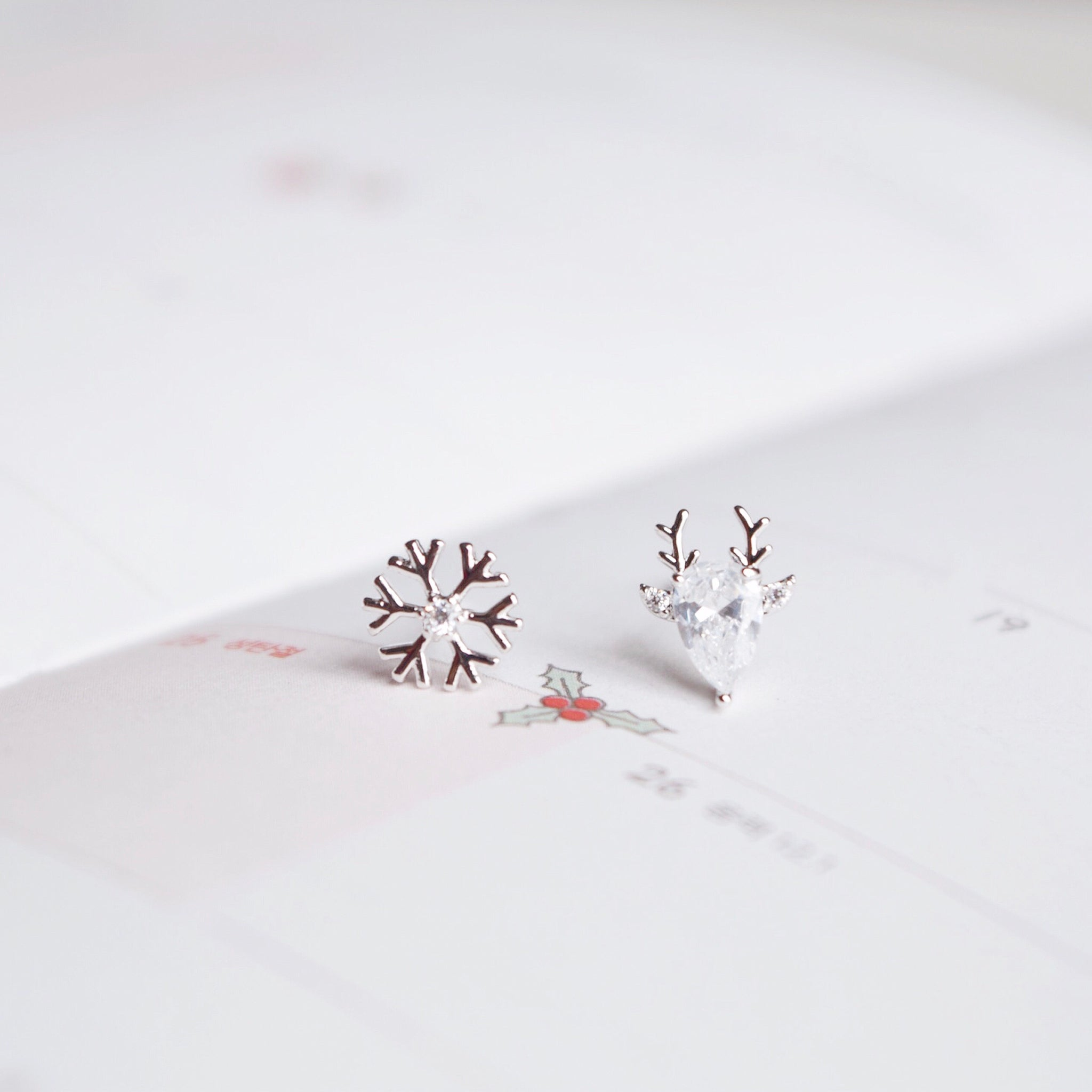 Reindeer & Snowflake Earrings