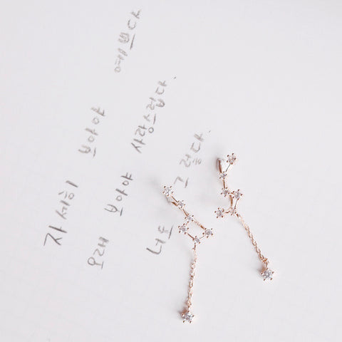 Rose Gold Constellation Cuff Earrings
